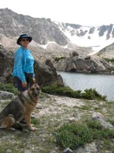 Kit and Cora at Emmaline Lake
