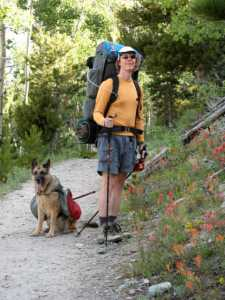 Kurt and Cora on the Cirque Meadow Trail