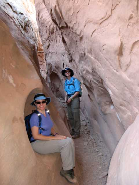 Kit and Kelleen in Little Wild Horse Canyon