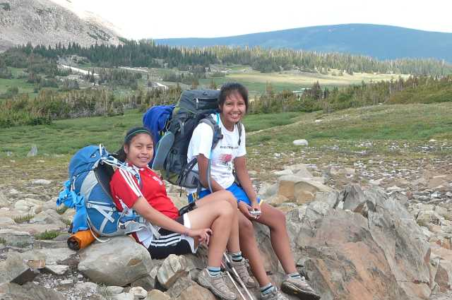 Molly and Sarah before the Bugs. (Photo by Dana Geary)