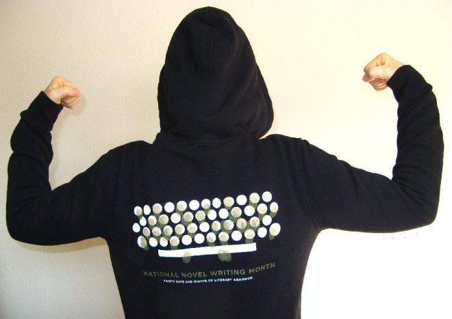 My magic NaNoWriMo hoodie. I wore this every time I wrote.