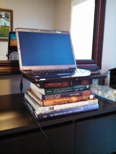 Standing desk away from home