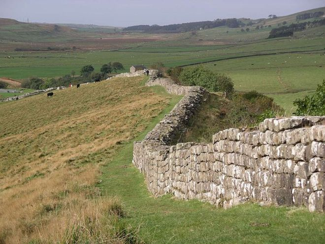 Hadrian's Wall at Greenhead Lough (via wikipedia.com)