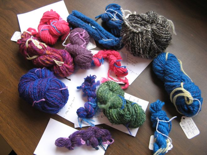 All the handspun yarn I've made. Ever.