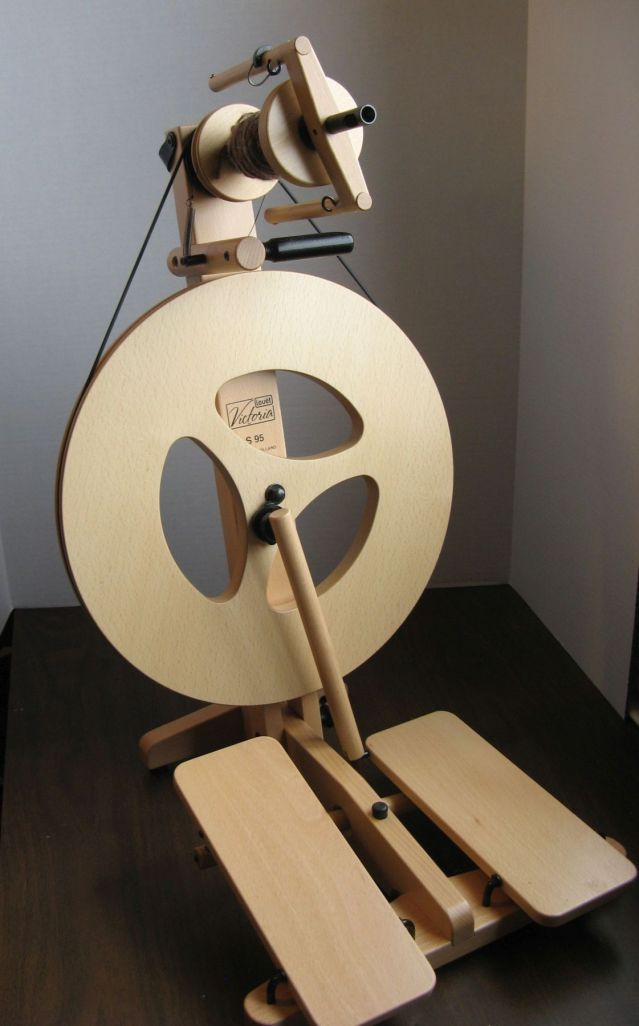 """My """"new"""" spinning wheel: the portable Victoria by Louet. *love*"""