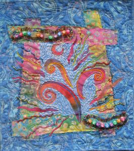 Life is Sweet: a small art quilt I made in 2005 to celebrate my first sugar-free birthday.