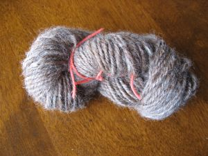 Romney wool? The first yarn off my new wheel.