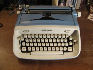 Writing on a typewriter is different from using a pen or even a computer.