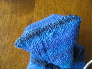 Invisible join? I think not! (Plus I dropped some stitches. ARGH!)