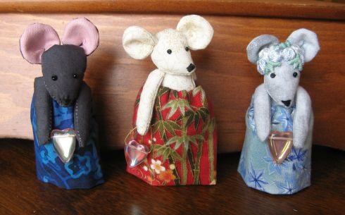 Mouse pin dolls by Kit Dunsmore
