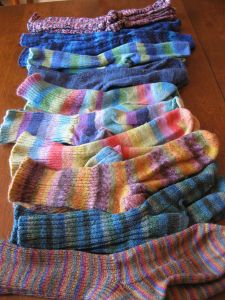 Some of my hand-knit socks.  I have a few more pairs that need mending.