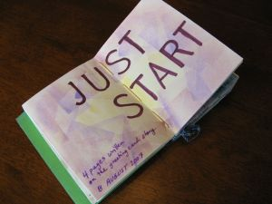 """A spread in my """"Start Today, Start Small"""" journal."""