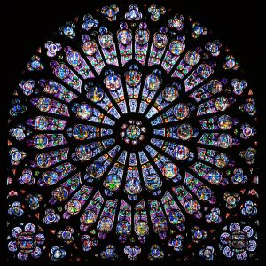 Rose window in Notre Dame Cathedral, Paris. Photo by Oliver Mitchell