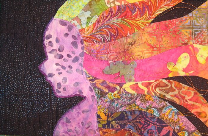 The Unknown Child by Kit Dunsmore (a sample of my machine-quilting)