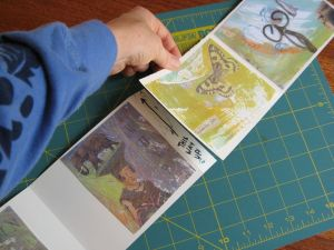 Gluing the decorated pages together