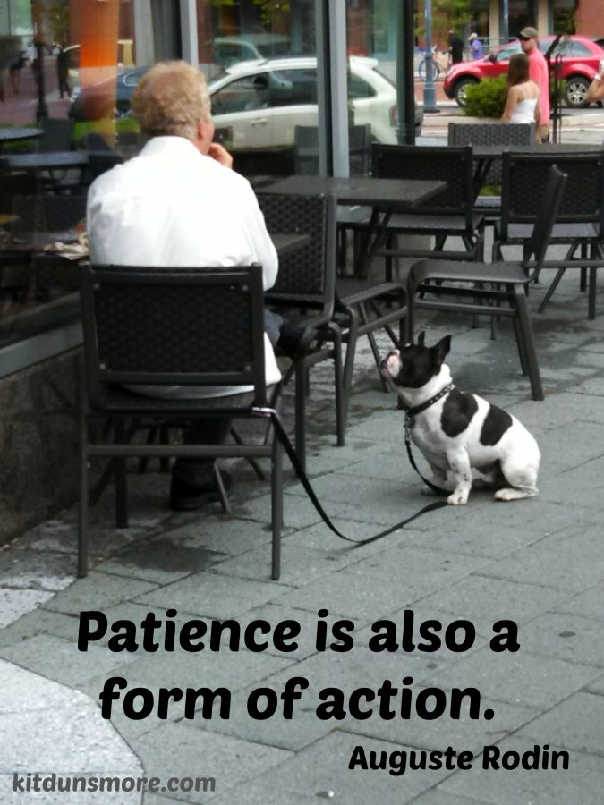 Patience as Action
