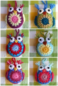 Crocheted Owls by Bunny Mummy