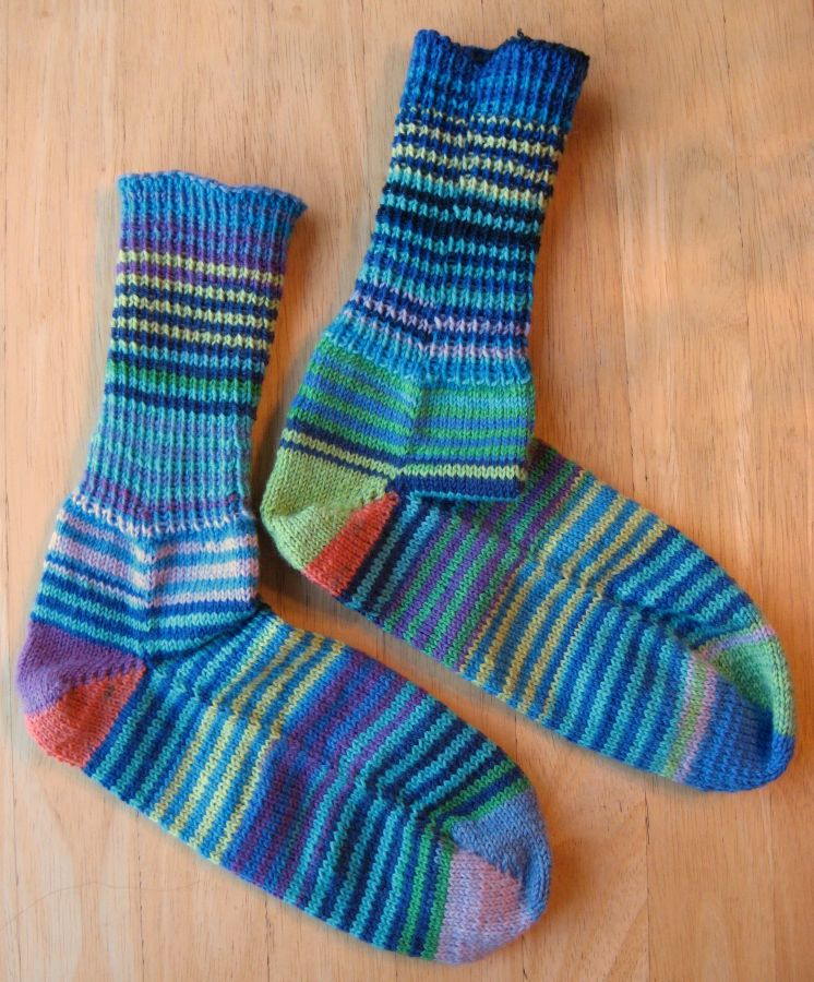 Finished Friday: Knitting Socks from Leftover Yarn