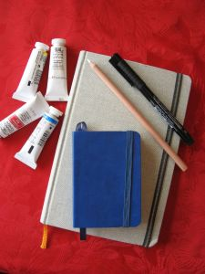 My new art supplies, waiting for me to pick them up.