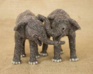 Kara and Chloe the baby elephants, by Megan Nedds