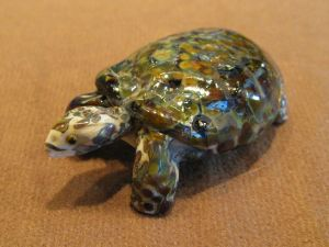 Tortoise, glass sculpture by Cleo Dunsmore Buchanan