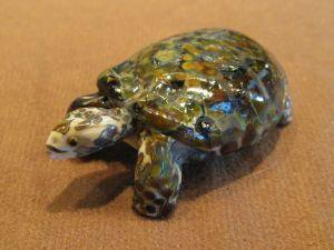 Tortoise, glass sculpture by Cleo Dunsmore Buchanan