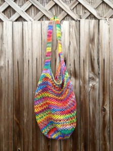 Made By Julianne's knit string bag