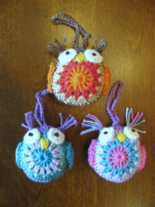 More crocheted owls designed by NAME. (Click photo to get to free pattern.)