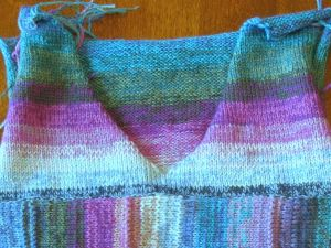 Close up of the yoke shows that my striping matches (mostly).