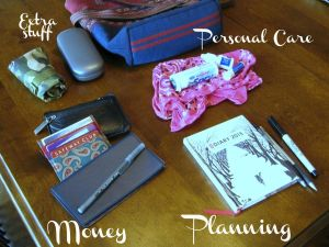 The contents of my purse. (No wonder I couldn't find anything!)