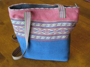 My big purse, hand-woven in Peru.