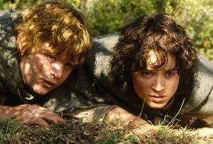 Sam and Frodo, on their way to Mordor.