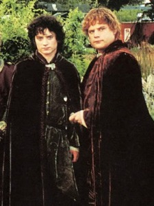 Frodo and Sam return home dressed like the heroes they are.
