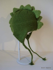 Knit Dino Cap, designed by Kris Hanson