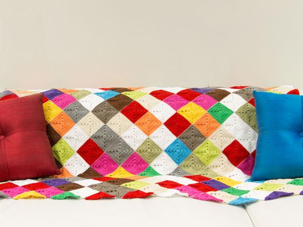 Kaleidoscope lap rug by Marinke Slump