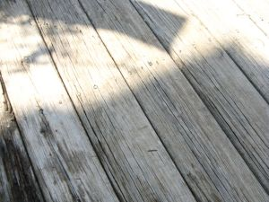 Sun and shadow on boards.