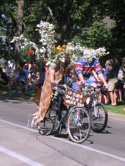 The Wizard of Oz has inspired many group costumes, but I never saw anyone dress up as a tree. (