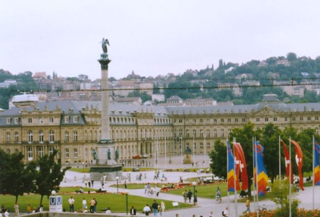 The palace in downtown Stuttgart. We walked past it every weekend.