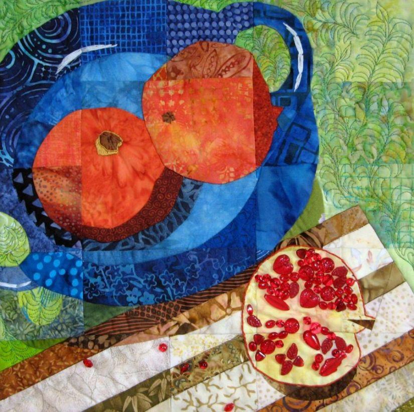 Pomegranates = Creative: A ChallengeQuilt