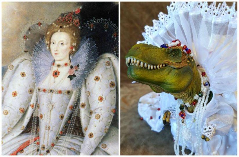 A T. Rex Dressed As ElizabethI
