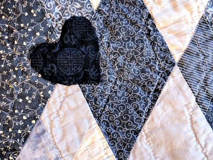 Sigh No More quilt detail by Kit Dunsmore